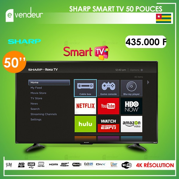 SHARP SMART TV 50 POUCES
